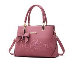 """Женская сумка розовая с узорами """"Розы"""""""