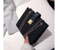 Гіпюрова сумка жіноча чорна