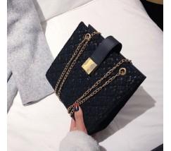 Гипюровая сумка женская черная