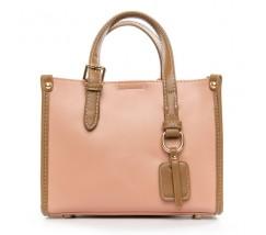 Женская сумка среднего размера розовая