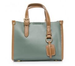 Женская сумка среднего размера голубая