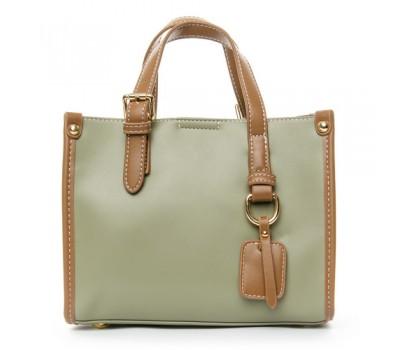 Женская сумка среднего размера зеленая