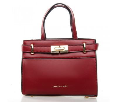 Средняя женская сумка красная
