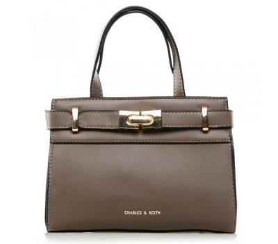 Средняя женская сумка серая