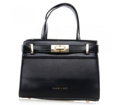 Средняя женская сумка черная