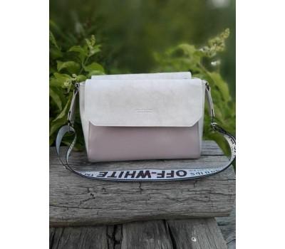 Стильная оригинальная женская сумка бежевая