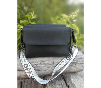 Стильная оригинальная женская сумка черная