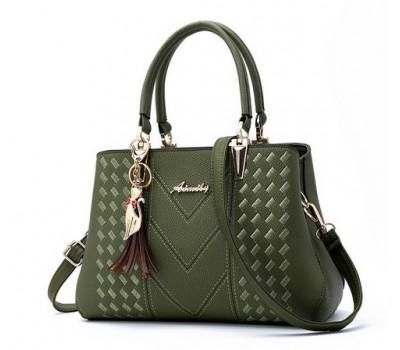 Средняя женская сумка зеленая
