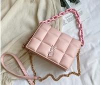 Женская сумка розовая Yves Saint Laurent копия