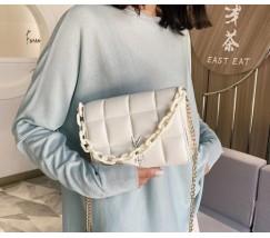 Женская сумка белая Yves Saint Laurent копия