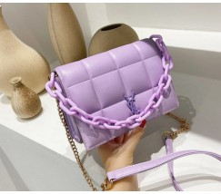 Женская сумка фиолетовая Yves Saint Laurent копия