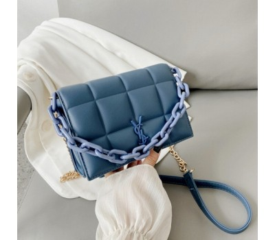 Женская сумка синяя Yves Saint Laurent копия