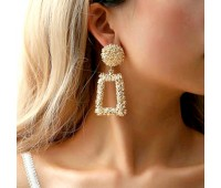 Жіночі сережки в стилі Zara золотисті